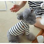 Собака Толстовка Одежда для собак На каждый день Полоски Черный Серый Красный Синий
