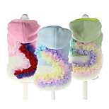 Dog Vest Dog Clothes Casual/Daily Floral/Botanical Green Blue Blushing Pink