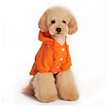 Собака Толстовки Одежда для собак На каждый день Сплошной цвет Черный Оранжевый Серый Красный