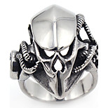 Men's Band Rings Gothic Punk Stainless Steel Skull / Skeleton Jewelry For Halloween Gift