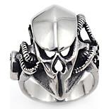 Муж. Классические кольца Панк Готика Нержавеющая сталь В форме черепа Бижутерия Назначение Halloween