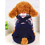 Dog Clothes/Jumpsuit Dog Clothes Casual/Daily Plaid/Check Blue Red Orange