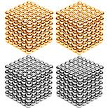 216 * 4шт 3мм золото и серебро diy магнитные шары шар шарик магия куб магнит головоломка строительный блок игрушка