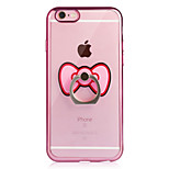 For iPhone 6 iPhone 6 Plus Case Cover Plating Ring Holder Transparent Back Cover Case Butterfly Soft TPU for Apple iPhone 6s Plus iPhone