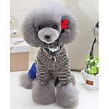 Dog Clothes/Jumpsuit Dog Clothes Casual/Daily Solid Coffee Gray