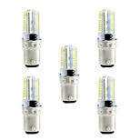 BRELONG Dimmable G4 G9 BA15D 4W 80x3014SMD 360LM 3000-3500K/6000-6500K Warm White/White Light LED Corn Bulb AC110V/220V 5pcs