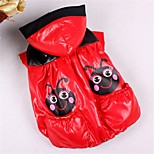 Dog Vest Dog Clothes Casual/Daily Cartoon Random Color Costume For Pets