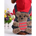 Собака Комбинезоны Одежда для собак На каждый день Носки детские Желтый Красный