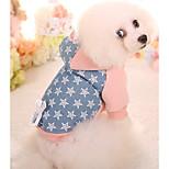 Собака Толстовки Одежда для собак На каждый день Звезды Зеленый Розовый