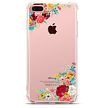 For iPhone X iPhone 8 Case Cover Transparent Pattern Back Cover Case Flower Soft TPU for Apple iPhone X iPhone 8 Plus iPhone 8 iPhone 7