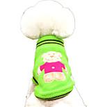 Собака Свитера Одежда для собак На каждый день Носки детские Желтый Красный Зеленый