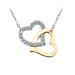 Women's Choker Necklaces Pendant Necklaces Crystal Cubic Zirconia Heart Zircon Silver Plated Fashion Personalized Jewelry For Wedding