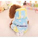 Собака Комбинезоны Одежда для собак На каждый день геометрический Желтый Синий Розовый
