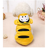 Dog Costume Dog Clothes Casual/Daily Cartoon Yellow