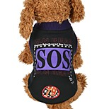 Dog Vest Dog Clothes Casual/Daily Letter & Number Black Costume For Pets