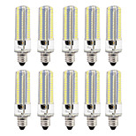 10 8W LED Corn Lights 152 leds SMD 3014 Dimmable Warm White White 700lm 3000-3500  6000-6500K AC110 AC220V