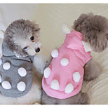 Dog Hoodie Dog Clothes Casual/Daily Solid Blushing Pink Blue Purple Gray