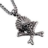 Муж. Жен. Заявление ожерелья Бижутерия В форме черепа Сплав Мода Простой стиль Бижутерия Назначение Повседневные На выход