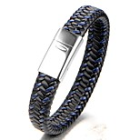 Men's Boys' Bangles Bracelet Jewelry Fashion Simple Style Leather Titanium Steel Geometric Jewelry For Daily Casual