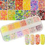 12colors / box художественная снежинка украшение ногтей порошок diy ногтей салон