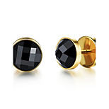 Men's Stud Earrings Rhinestone Fashion Rock Titanium Steel Jewelry For Daily Casual