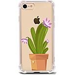 Pour iPhone X iPhone 8 Etuis coque Ultrafine Transparente Motif Coque Arrière Coque Arbre Flexible PUT pour Apple iPhone X iPhone 8 Plus