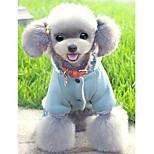 Собака Комбинезоны Одежда для собак На каждый день Носки детские Коричневый Синий Розовый