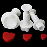 1 Set/3PCS Love Heart Plunger Cutter Mold Sugarcraft Fondant Cake Decorating Diy Tool