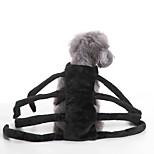 Кошка Собака Костюмы Одежда для собак Для вечеринки Косплей Хэллоуин Сплошной цвет Черный