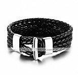 Men's Women's Leather Bracelet Hip-Hop Rock Leather Titanium Steel Animal Shape Line Jewelry For Party Birthday Gift Evening Party