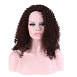 Women Synthetic Wig Capless Long Afro Brown African American Wig Layered Haircut Halloween Wig Natural Wig Costume Wigs