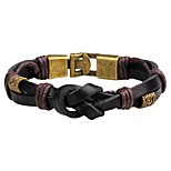 Men's Women's Leather Bracelet Fashion Punk Leather Alloy Round Jewelry For Daily Casual