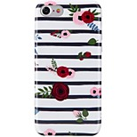 For iPhone X iPhone 8 Case Cover Ultra-thin Pattern Back Cover Case Lines / Waves Flower Soft TPU for Apple iPhone X iPhone 8 Plus iPhone