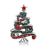 Men's Women's Brooches Fashion Chrismas Silver Plated Gold Plated Jewelry For Party Christmas