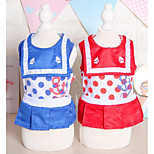 Dog Dress Dog Clothes Casual/Daily Sailor Red Blue