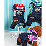Dog Clothes/Jumpsuit Dog Clothes Casual/Daily British Green Red Fuchsia