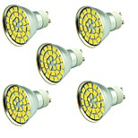 5 pcs 5W LED Spotlight 55 leds SMD 5730 Decorative Warm White Cold White 800lm 3000-7000K AC 12V