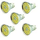 5W Точечное LED освещение 55 SMD 5730 800 lm Тёплый белый Холодный белый 3000-7000 К Декоративная AC 12 V 5 ед.