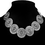 Women's Choker Necklaces Jewelry Oval Alloy Fashion Adorable Jewelry For Gift Stage