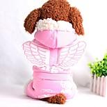 Собака Комбинезоны Одежда для собак На каждый день Ангел и черт Синий Розовый