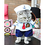Dog Costume Dog Clothes Party Cosplay Halloween Christmas Sailor White