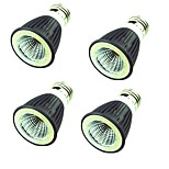 4штк 7W Точечное LED освещение MR16 1 светодиоды COB Декоративная Тёплый белый Холодный белый 550lm 3000-6500K AC220V