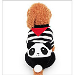 Dog Clothes/Jumpsuit Dog Clothes Casual/Daily Stripe White/Black