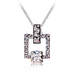 Women's Choker Necklaces Pendant Necklaces Crystal Cubic Zirconia Geometric Zircon Silver Plated Fashion Personalized Jewelry For Wedding