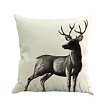1 Pcs European Style Sika Deer Animal Cushion Cover Personality 45*45Cm