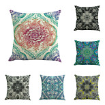 Set Of 6 Bohemia Geometry Flowers Printing Pillow Case Novelty Square Sofa Pillow Cover