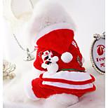 Собака Костюмы Одежда для собак Рождество Американский / США Красный