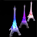 cheap -1Pcs Romantic Eiffel Tower Nightlight Color Changing Led Lamp Bedroom Lighting Gift