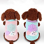Dog Vest Dog Clothes Casual/Daily Cartoon Blushing Pink Blue Purple