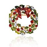 Муж. Жен. Броши Синтетический алмаз Гипоаллергенный Chrismas Сплав Круглый Бижутерия Назначение Рождество